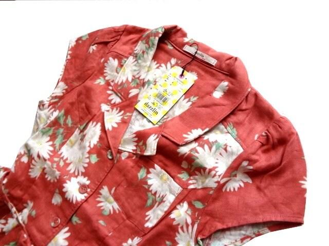 新品 定価7980円 ダズリン DazzliN 花柄 シャツワンピース ミニ < ブランドの