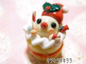 クリスマスケーキ<樹脂粘土>小鳥サンタver限定