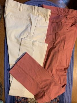 【UNIQLO】 白色ストレッチ パンツ 他2枚