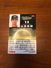 山岡泰輔 プロ野球チップスカード2018