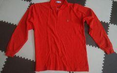 オレンジ メンズ Mサイズ 長ポロシャツ 超美品