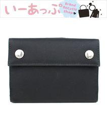プラダ 二つ折り財布 黒 PRADA 美品 g469