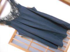 ジーユー*後ろレースタンクL*ガーリー★クリックポスト164円