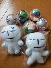 ☆新品未使用☆うみにん☆光るキーホルダー2コ×200円ガチャマスコット5コのセット