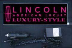 光るプレート リンカーン ラグEL発光ピンク