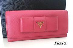 ◇美品!プラダ 長財布 PRADA ピンク e415