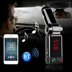 高音質BluetoothFMトランスミッタハンズフリースマホ二台充電