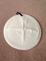 シンプル ニット ベレー帽☆オフホワイト 白