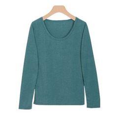 新品 アンダーシャツ 吸湿 発熱 長袖 インナー M 緑