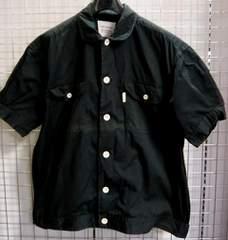 SHOESHINEBOY‐フランドルシャツジャケット黒綿