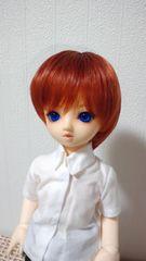 幼SDサイズ ウィッグ 赤茶色(栗色)ショート