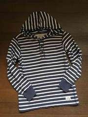 H&M☆フード付きボーダーTシャツ