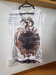 レディース トップス 柄物 半袖 Tシャツ 42