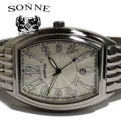 美品 1スタ★ゾンネ SONNE【大型】メンズ腕時計
