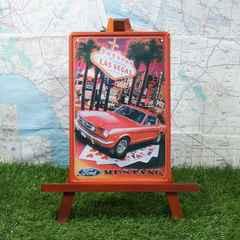 新品【ブリキ看板】Mustang/フォード・マスタング  Las Vegas