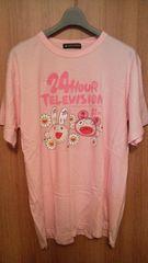 未使用美品嵐 24時間テレビ2008 ピンクTシャツ LLサイズ貴重必見