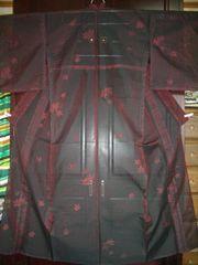 流水楓紋様 紗の単のお着物  未使用品