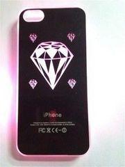 ★新品レア★レインボーに光るiPhone5/5Sケースカバー黒ダイヤモンド