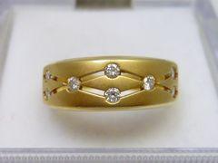 K18ゴールド 合計 0.20ct ダイヤモンドリング 12号 指輪