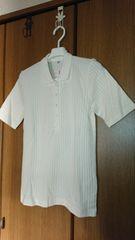 【UNIQLO/ユニクロ】ポロシャツ*半袖*リブ*オフホワイト*M