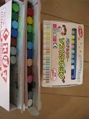 未使用★サクラクレパス12色+7本&ソフトクレヨン11色