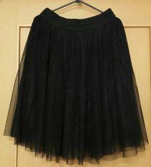 春物☆チュールスカート☆黒☆Lサイズ
