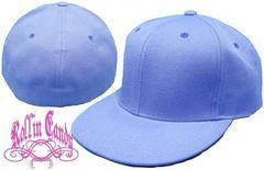 34B)カスタム自在無地ベースボールキャップライトブルー水色7 5/8(61cm)B系HipHop