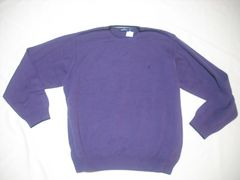 12 男 NAUTICA ノーティカ 紫 セーター XXL