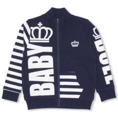 新品BABYDOLL☆140 ジップジャケット ネイビー 王冠 ロゴ ベビードール