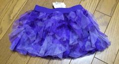 Щ】インポートカモフラ柄 紫 スカート   12-18サイズ