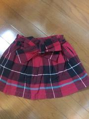 美品☆hakka kids110☆ウエストリボンがかわいいフレアスカート
