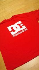 LA直輸入 DCSHOE Tシャツ 赤RED ロゴプリ サイズ4XL XXXXL