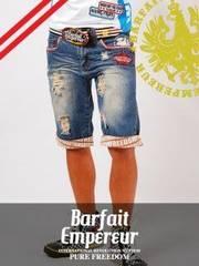BarfaitEmpereur(バルフェアンプルール)ハーフパンツ/青M