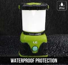 LEDランタン 超高輝度1000ルーメン 電池式 防水仕様