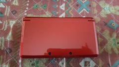 中古3DSフレアレッド本体/美品/専用充電台ACアダプタメモリーカード4GB等付