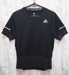 adidas アディダス 叶衣スピード 半袖Tシャツ KANOI 黒 L