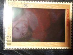 トレカの縁が額縁?切手?仕様の「深田恭子」クリアカード