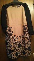 グレースコンチネンタル ウール刺繍ワンピース 36