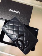 箱付き ◆正規品◆ 美品 ◆ CHANEL シャネル カンボン 長財布