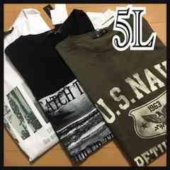 5L・プリントTシャツ・3点セット新品/MCAb-707