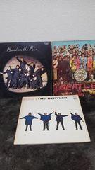 ビートルズ、アルバムレコード、3枚セット36曲入り骨董品