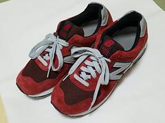 new balance/ニューバランス/スニーカー/靴/シューズ/赤×グレー/27.0cm