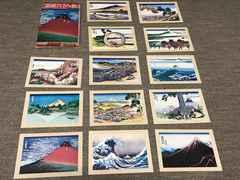 富嶽三十六景★葛飾北斎★絵葉書13枚★浮世絵ポストカード赤富士