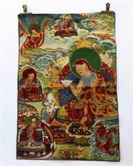 ★チベット密教・タンカ/仏画/曼荼羅/ネパール絹/464