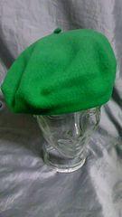 CZECH チェコ製 ウール ベレー帽 未使用品 グリーン