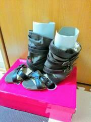 ブーツ系ペタンコサンダル