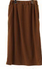 グリーンパークス☆新品タグ付 ストライプロングタイトスカート
