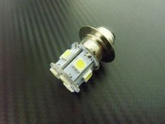 6v原付50ccバイク用/P15D LEDヘッドライト/白 ホワイト HiLo切替
