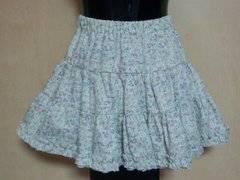 新品:サイズM:ウエスト64〜70�p:花柄ミニフレアースカート