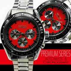 【全針稼動】バイカラー自動巻きクロノグラフ腕時計BCG39BR